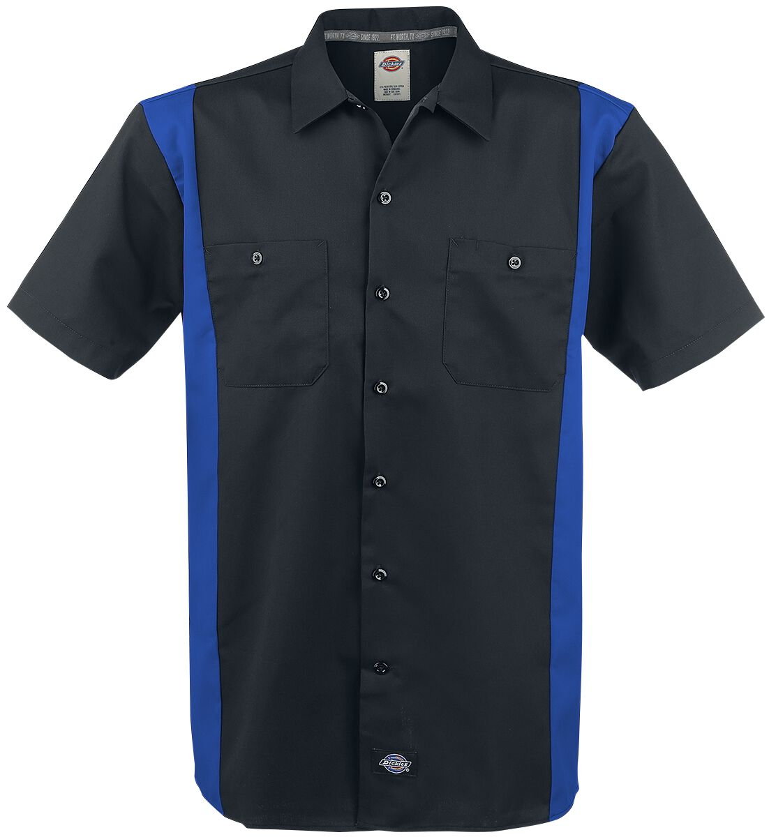 Image of   Dickies Two Tone Work Shirt Skjorte sort-blå