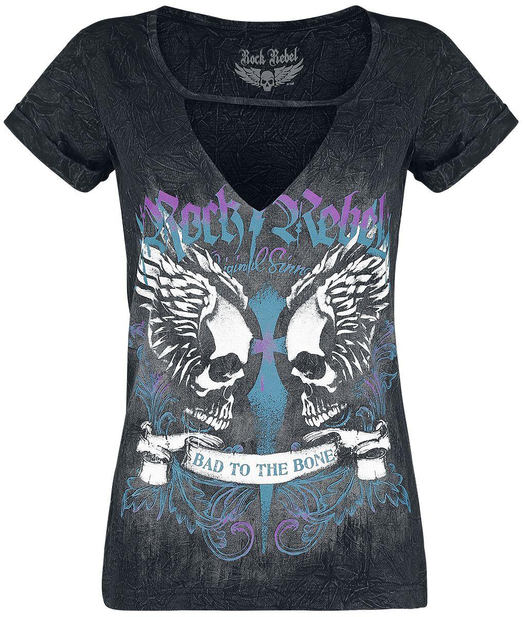 Image of   Rock Rebel by EMP In The Clear Girlie trøje sort