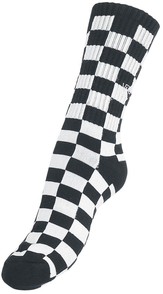 Image of   Vans Checkerboard II Crew Sokker sort-hvid