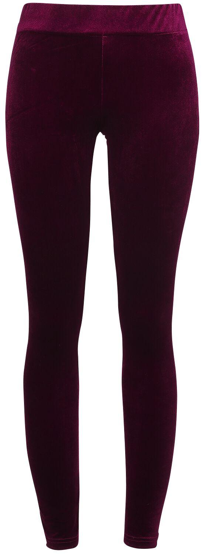 Marki - Spodnie długie - Legginsy Chemical Black Edit Velvet Legginsy czerwony - 363960