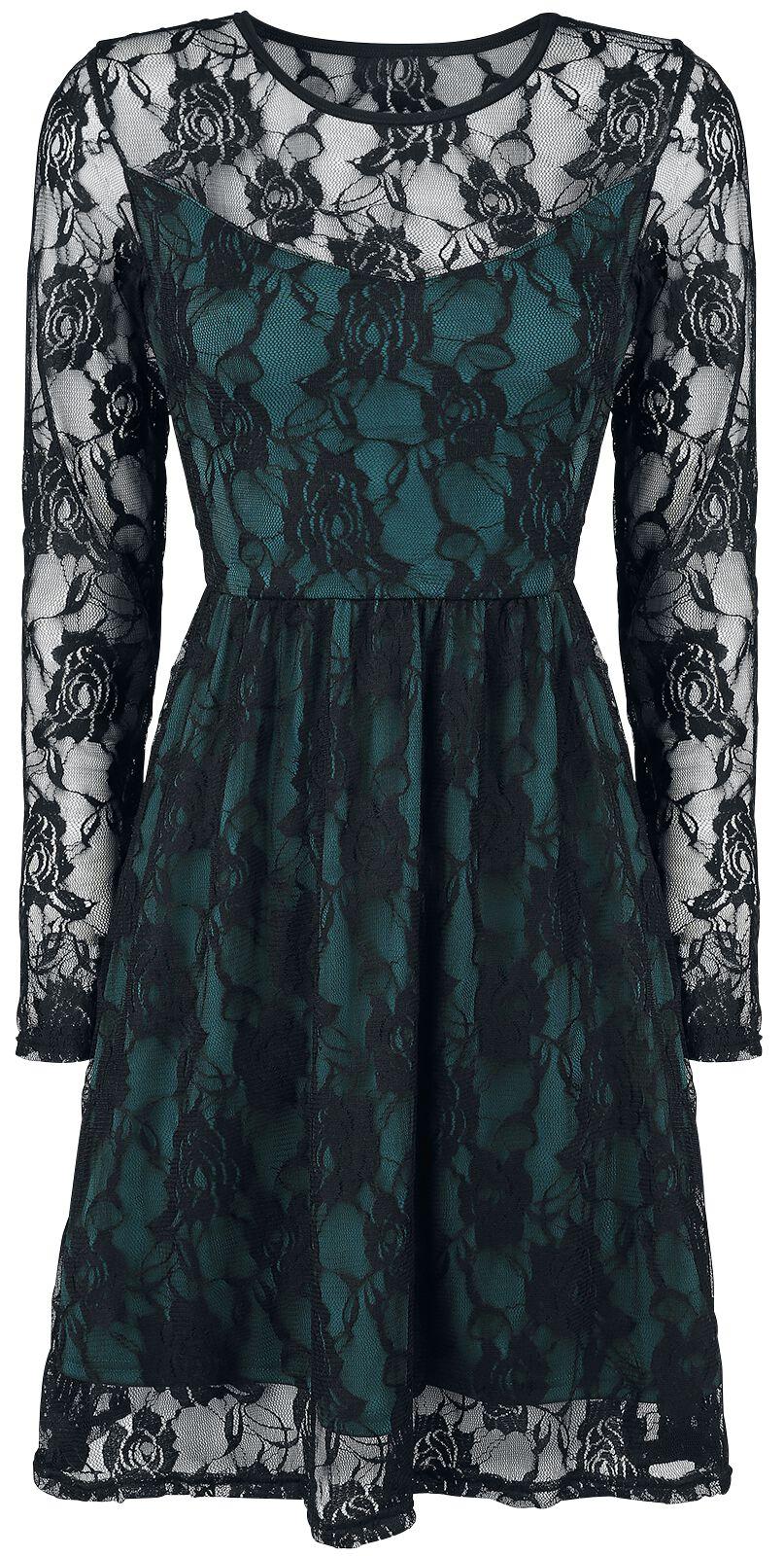 Image of   Forplay Lace Dress Kjole petrol-sort