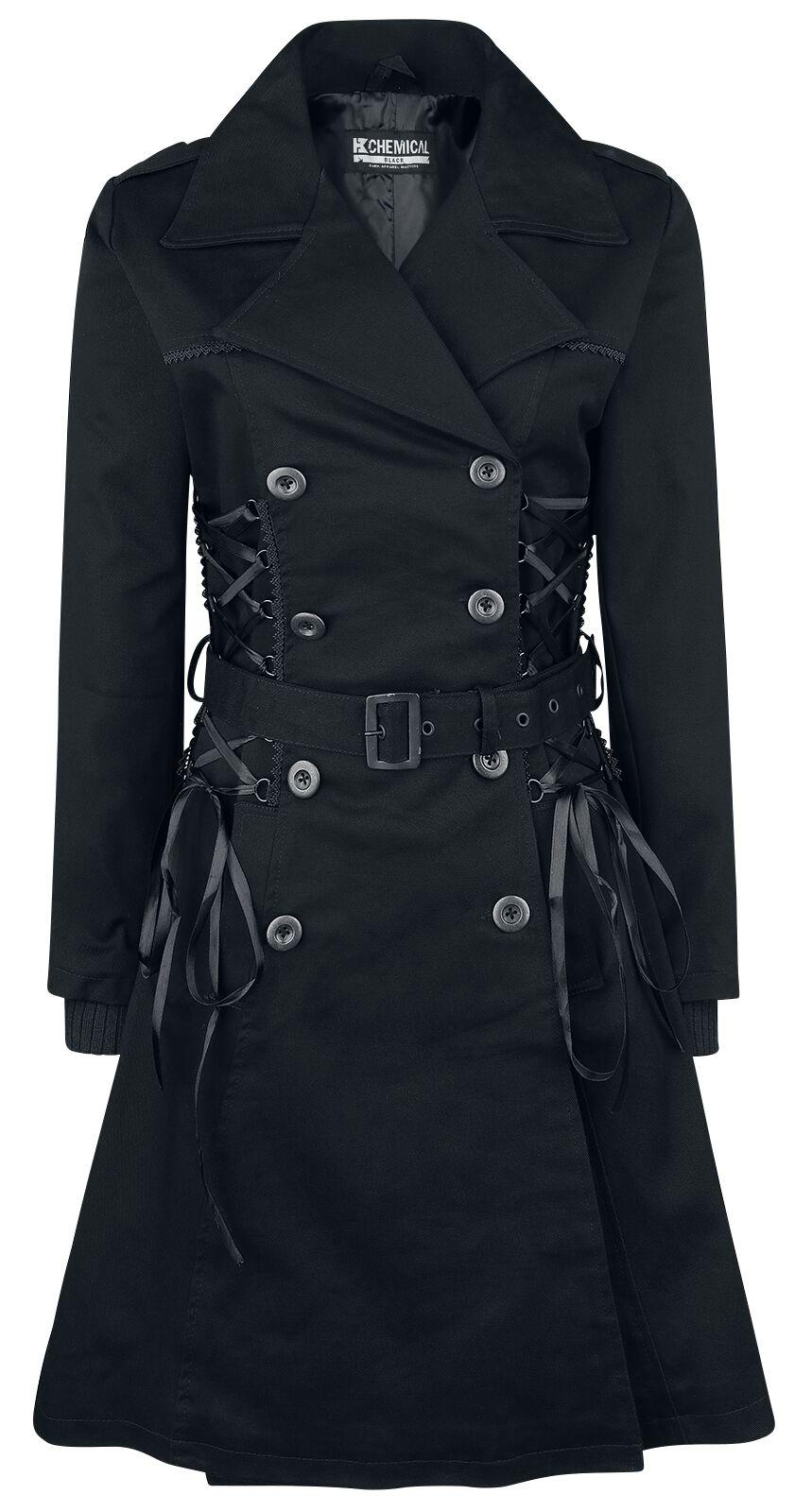 Marki - Płaszcze - Płaszcz damski Chemical Black Ellen Coat Płaszcz damski czarny - 364039