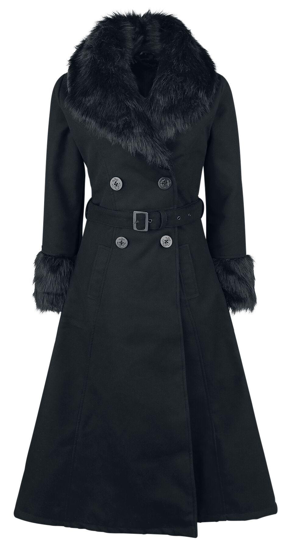 Marki - Płaszcze - Płaszcz damski Rockabella Bianca Coat Płaszcz damski czarny - 364054