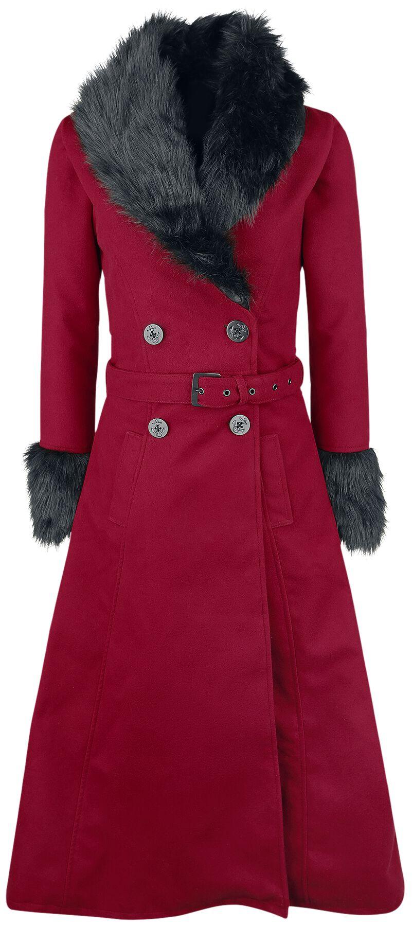 Rockabella Bianca Coat Płaszcz damski czerwony