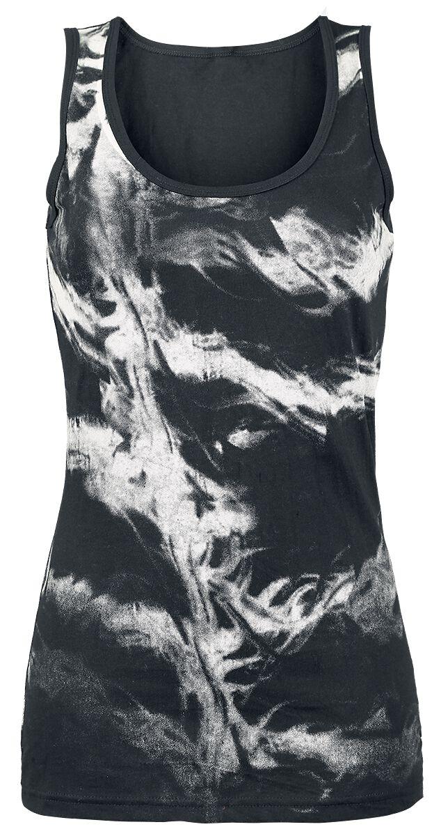 Marka własna - Topy - Top damski Black Premium by EMP 2 In1 Skull Bat Burnout Shirt Top damski czarny - 364169