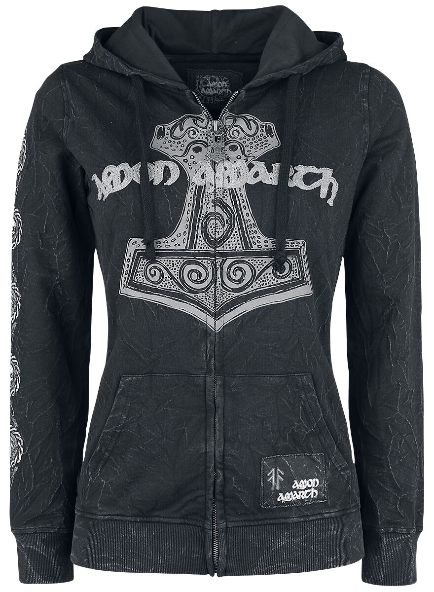 Image of   Amon Amarth EMP Signature Collection Girlie hættejakke mørk grå