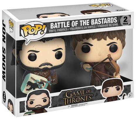 Image of   Game Of Thrones Battle of the Bastards - Jon Snow + Ramsay Bolton Vinyl Figure Samlefigur Standard