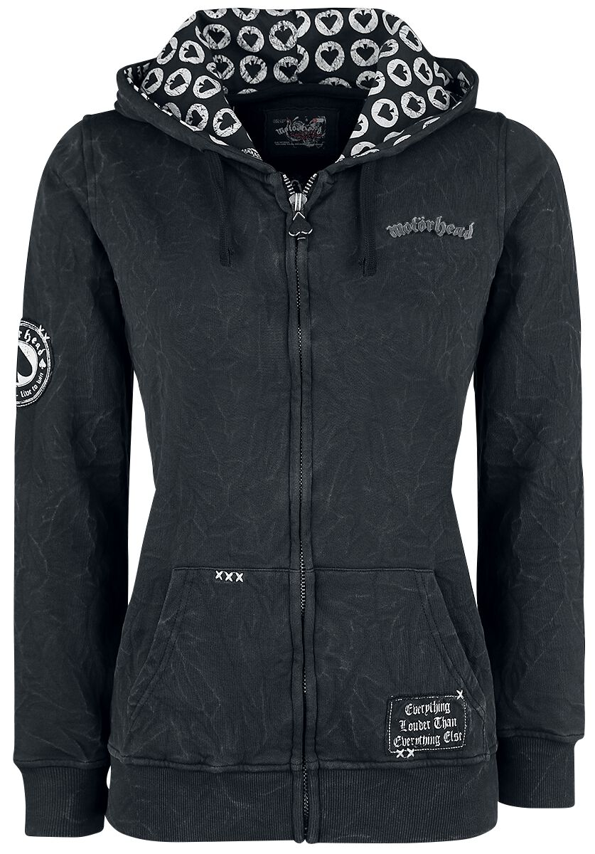 Motörhead EMP Signature Collection Bluza z kapturem rozpinana damska ciemnoszary