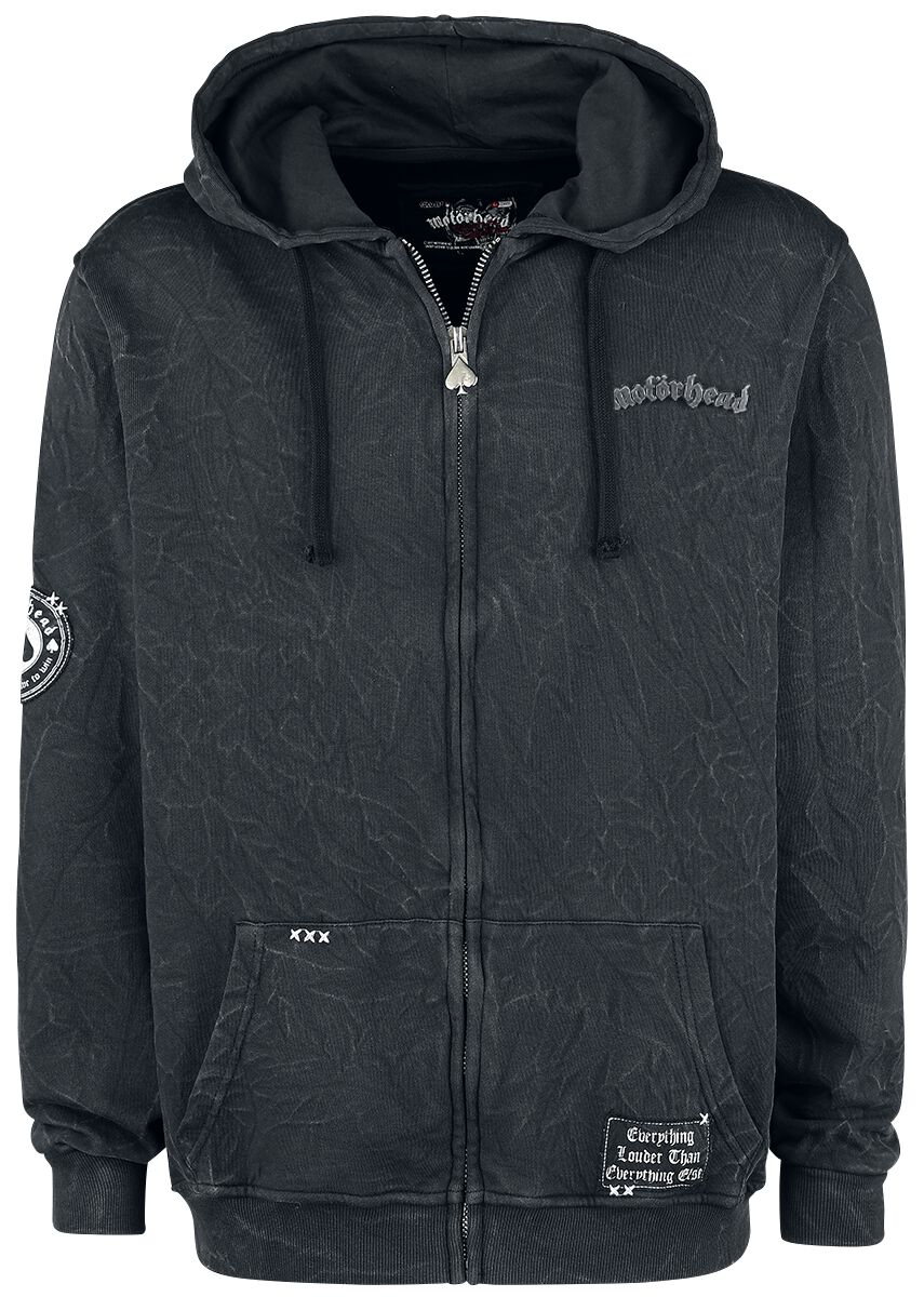 Image of   Motörhead EMP Signature Collection Hættejakke mørk grå
