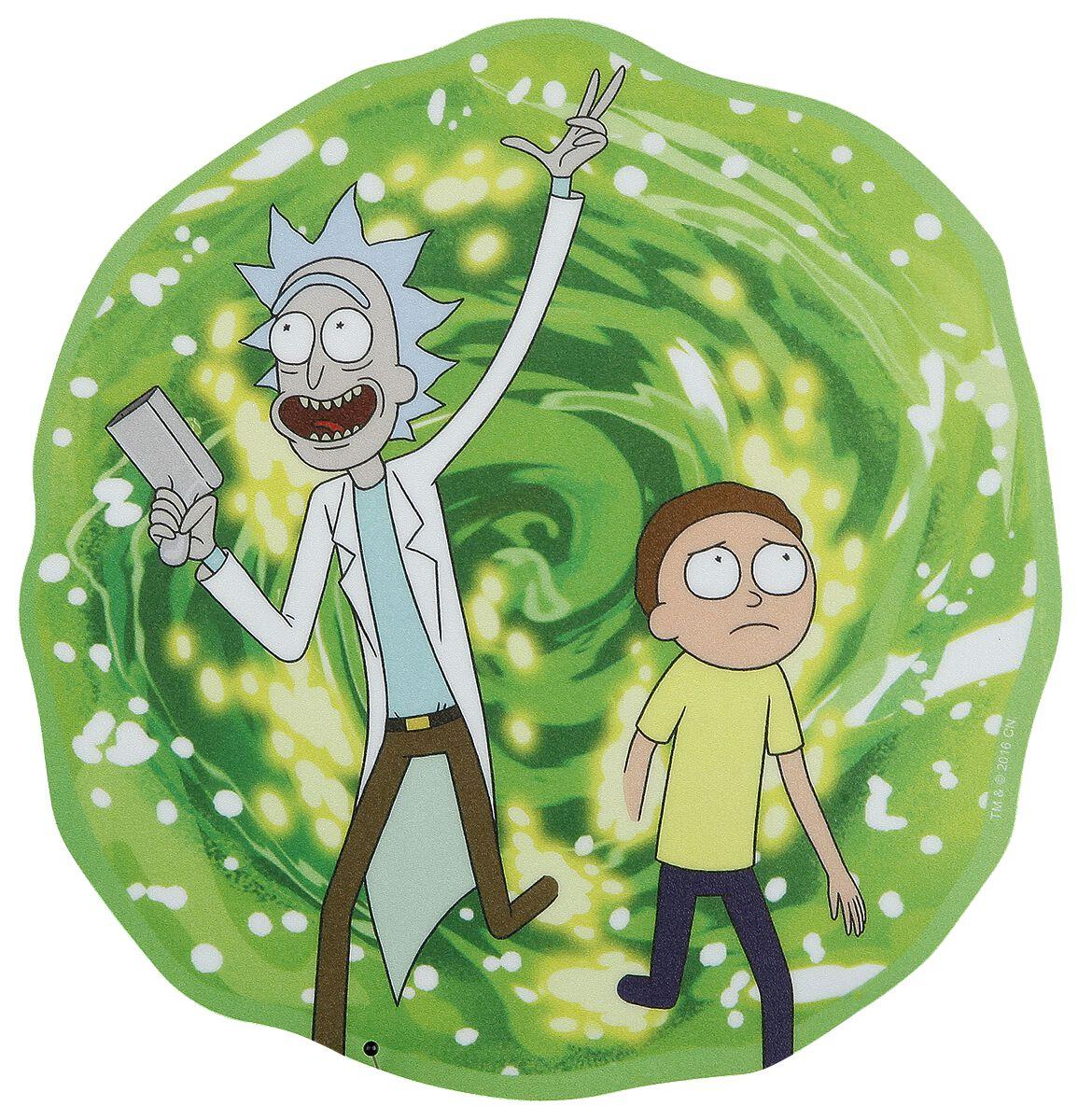 Image of   Rick And Morty Portal Musemåtte multifarvet
