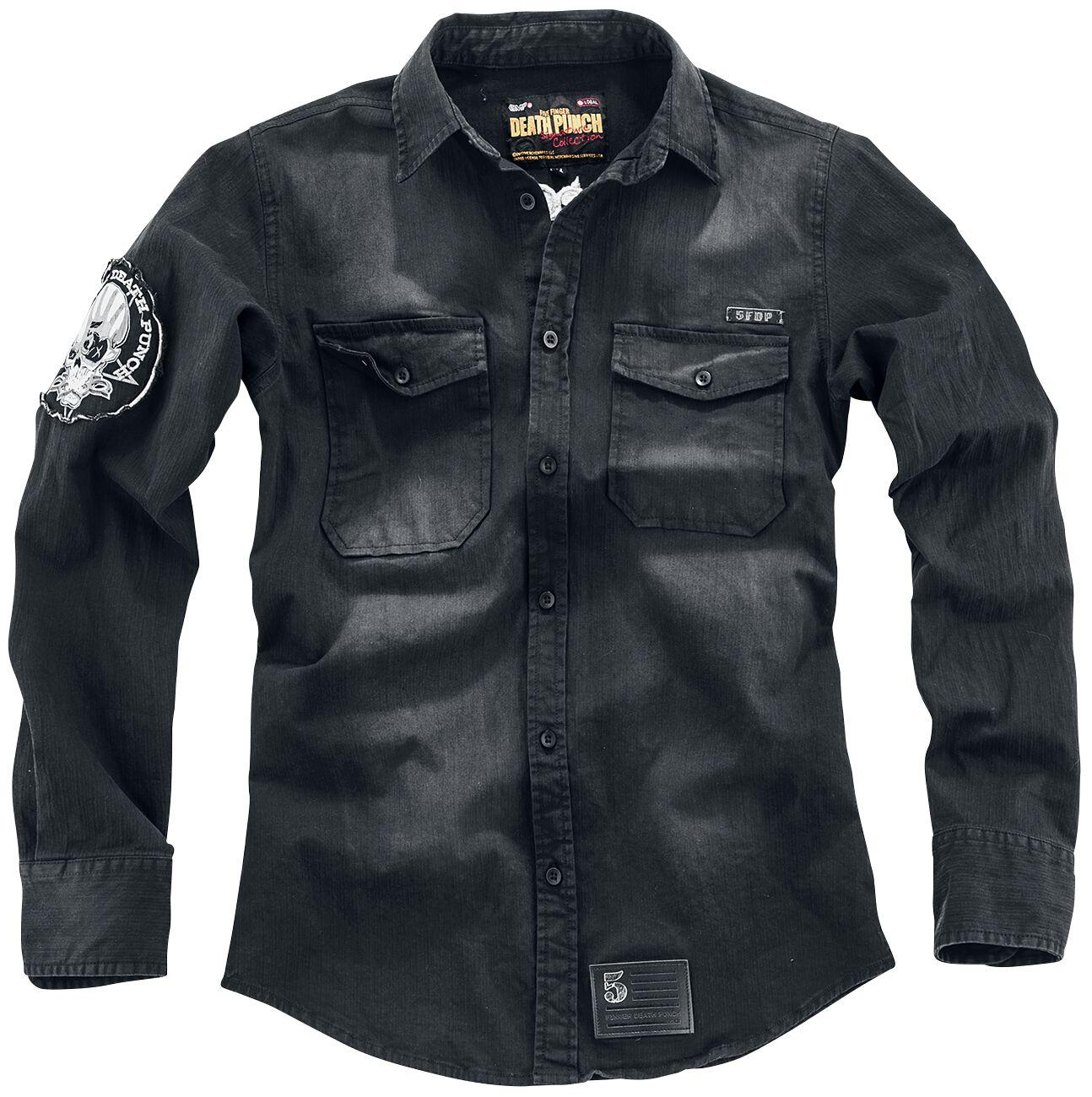 Image of   Five Finger Death Punch EMP Signature Collection Skjorte mørk grå
