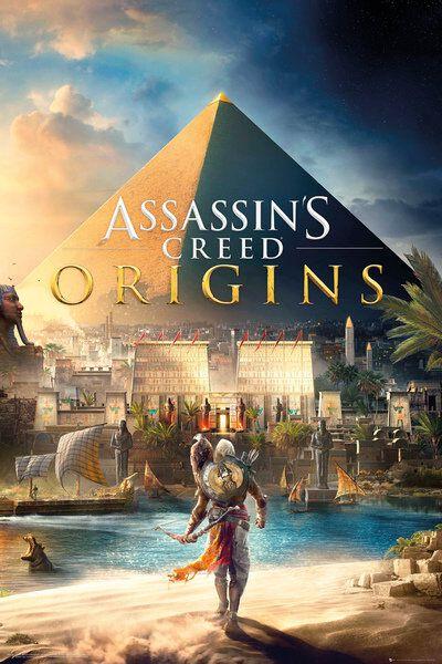 Image of   Assassin's Creed Origins - Cover Plakat multifarvet