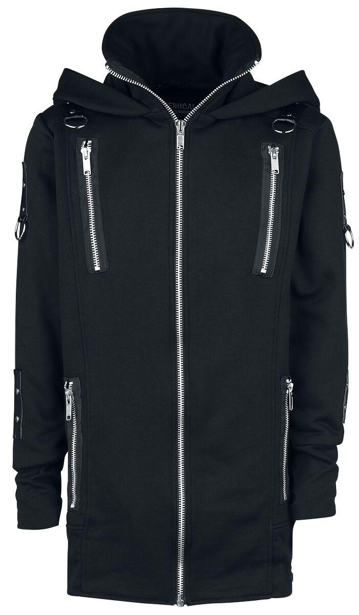 Marki - Bluzy z kapturem - Bluza z kapturem rozpinana Chemical Black Keran Hood Bluza z kapturem rozpinana czarny - 364369