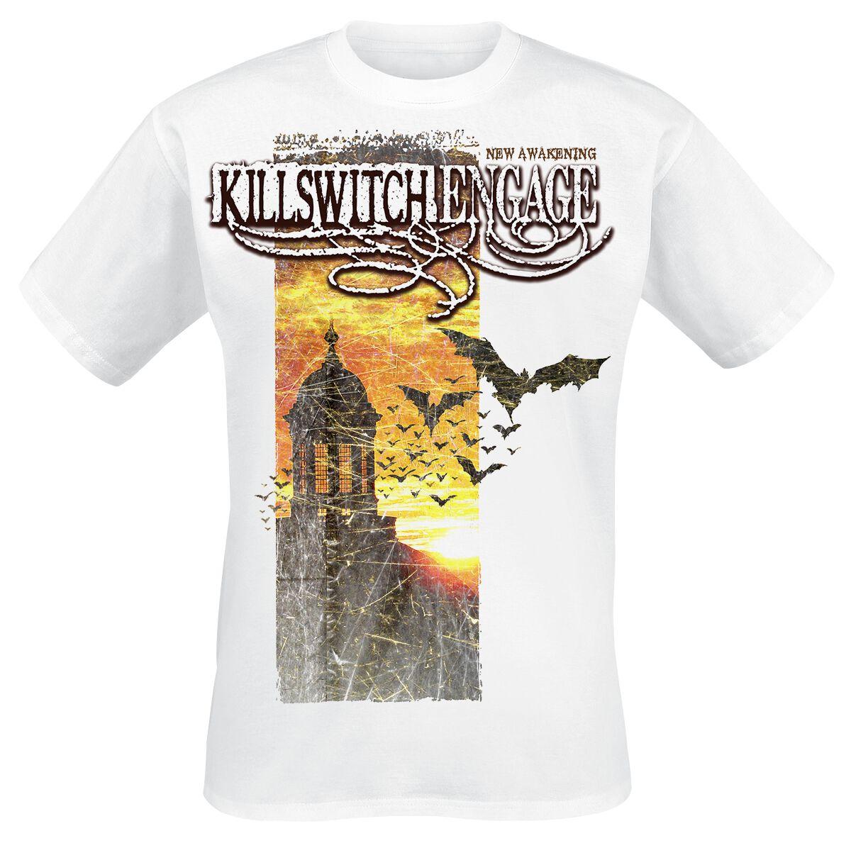 Zespoły - Koszulki - T-Shirt Killswitch Engage New Awakening Banner T-Shirt biały - 364390