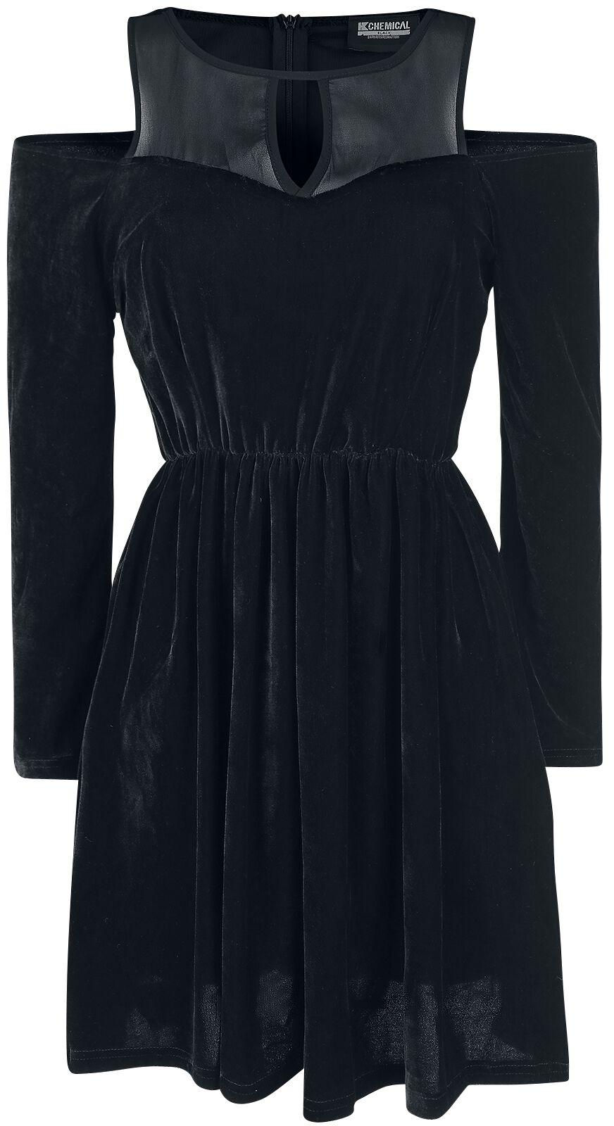 Marki - Sukienki - Sukienka Chemical Black Velvet Petuna Sukienka czarny - 364411