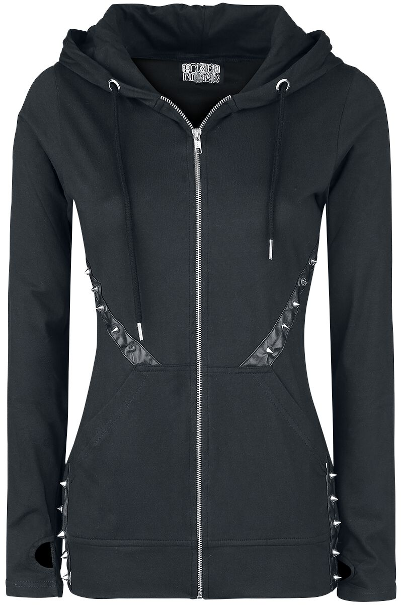 Poizen Industries Mood Hood Bluza z kapturem rozpinana damska czarny