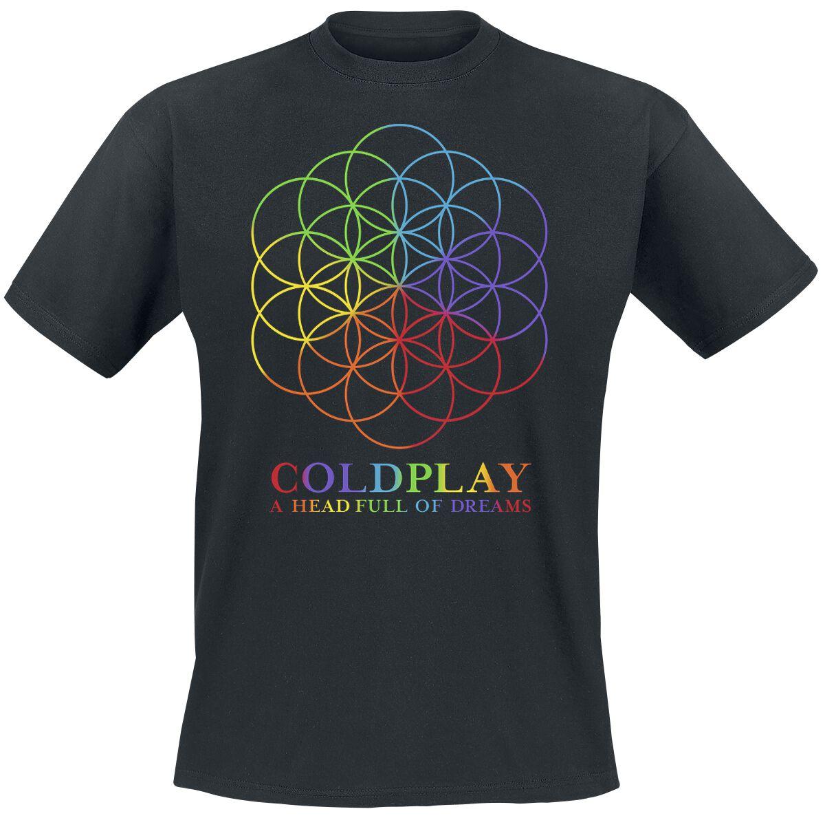 Zespoły - Koszulki - T-Shirt Coldplay A Head Full Of Dreams T-Shirt czarny - 364483