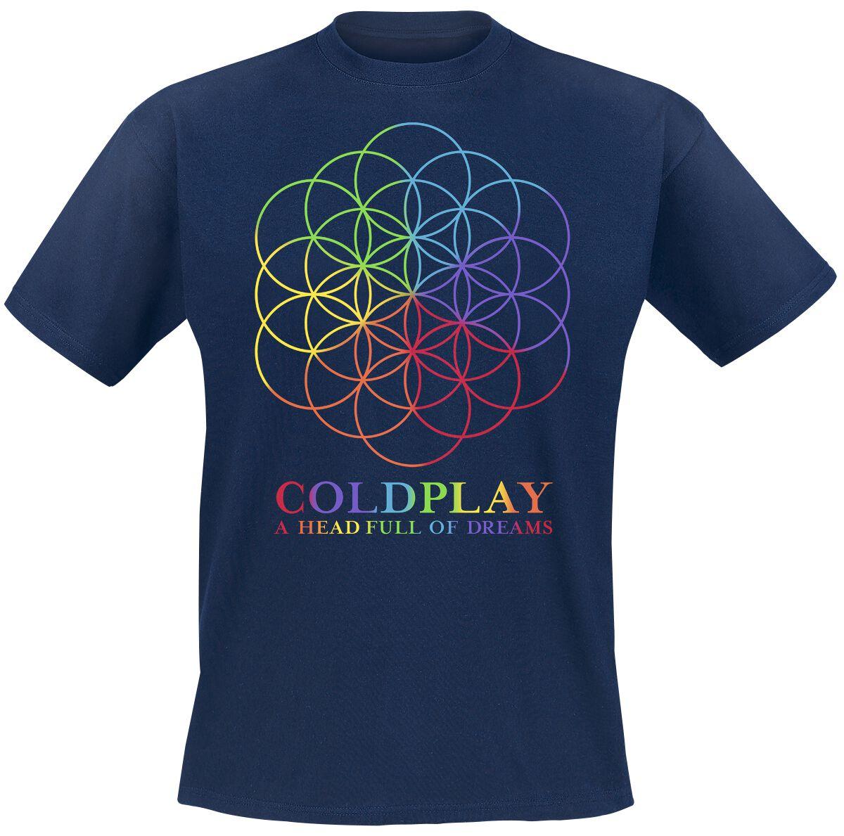 Zespoły - Koszulki - T-Shirt Coldplay A Head Full Of Dreams T-Shirt granatowy - 364486