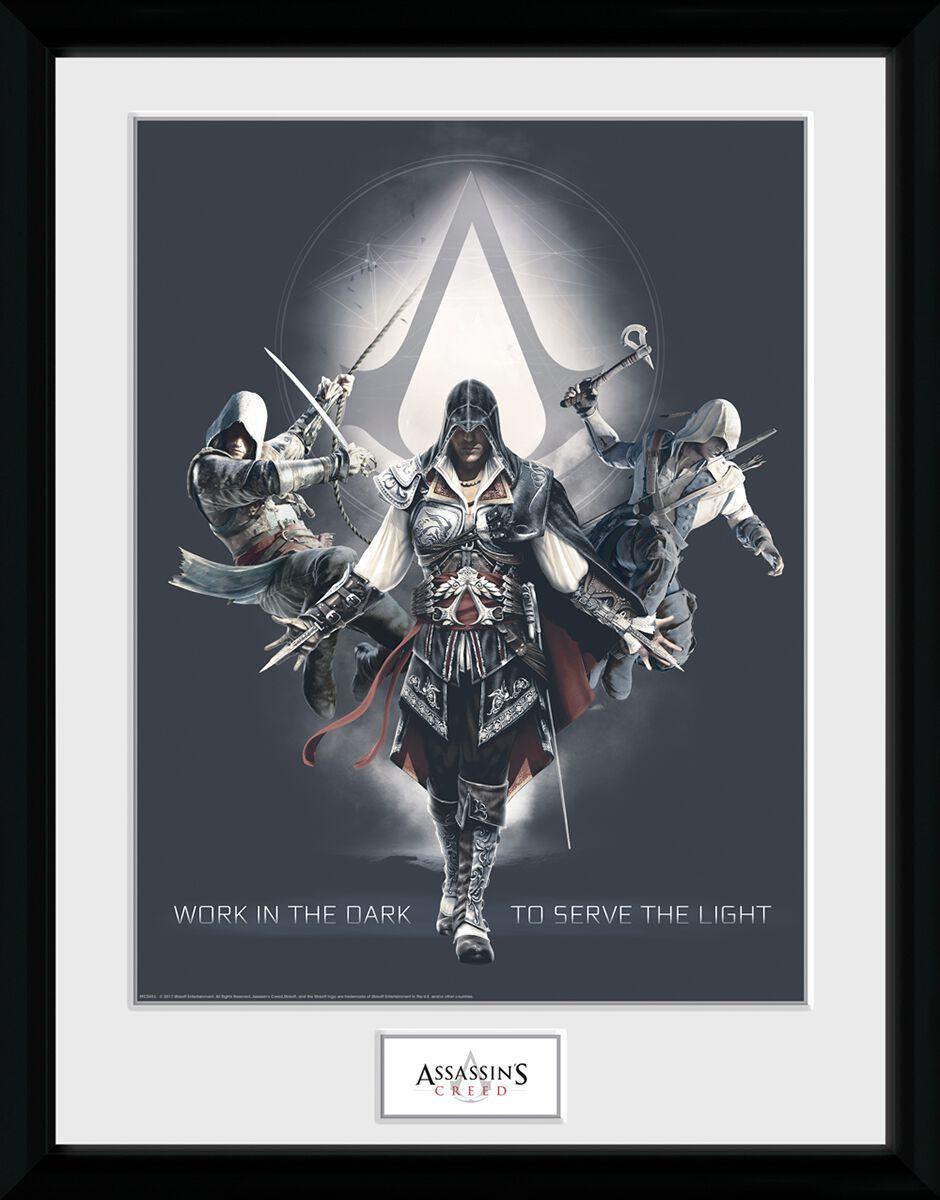 Image of   Assassin's Creed Work In The Dark Indrammet billede multifarvet