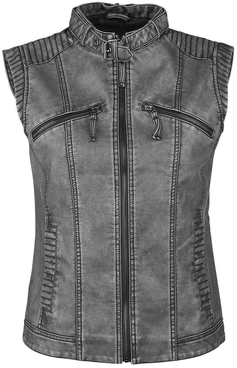 Image of   Black Premium by EMP Courage Girlie vest grå