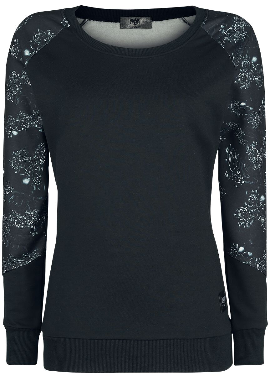 Image of   Black Premium by EMP Don't Play Around Girlie sweatshirt sort-grå