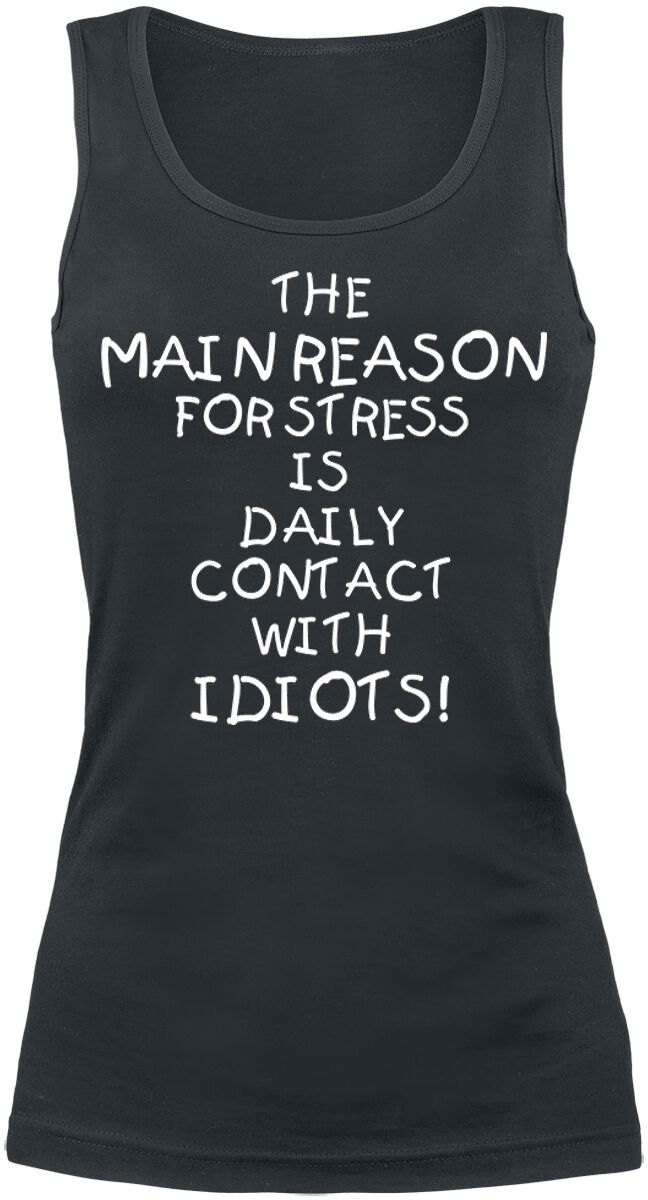 Fun Shirts - Topy - Top damski Idiots Top damski czarny - 364534