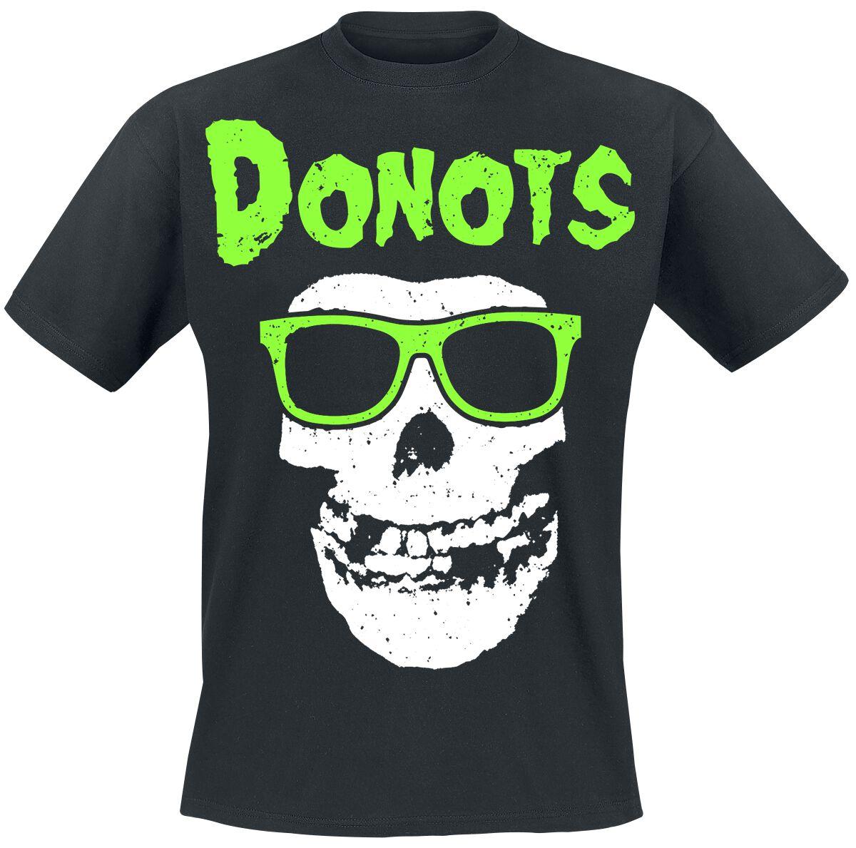 Zespoły - Koszulki - T-Shirt Donots Skull T-Shirt czarny - 364551