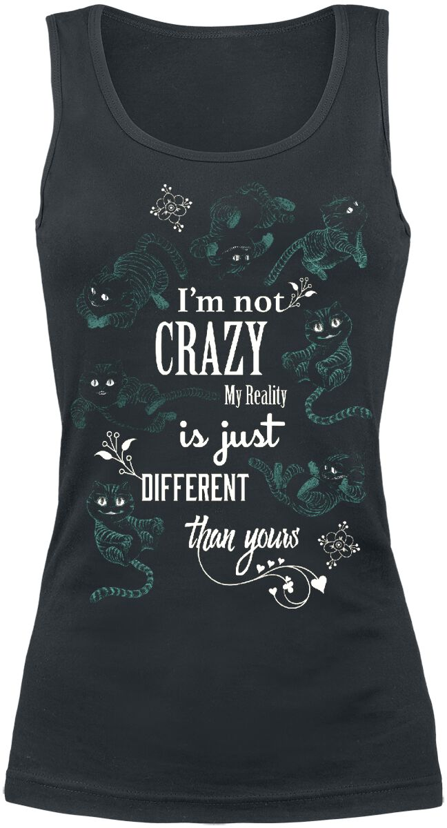 Image of   Alice i Eventyrland Filurkatten - I'm Not Crazy Girlie top sort