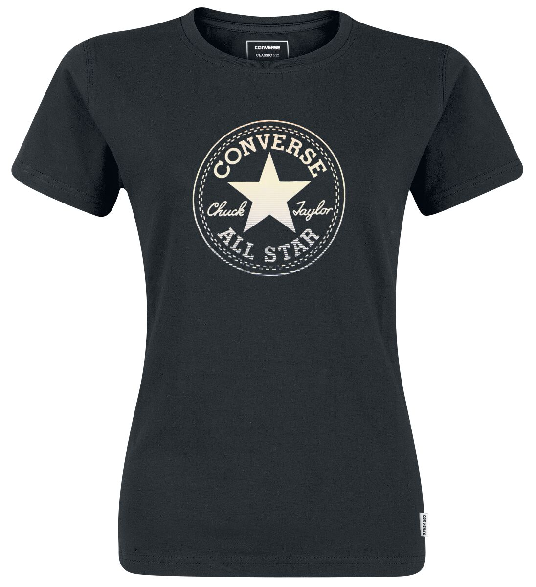 Image of   Converse Clear Foil Chuck Patch Tee Girlie trøje sort