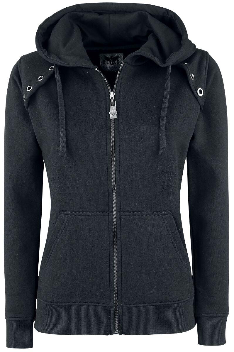 Image of   Black Premium by EMP Closer Girlie hættejakke sort