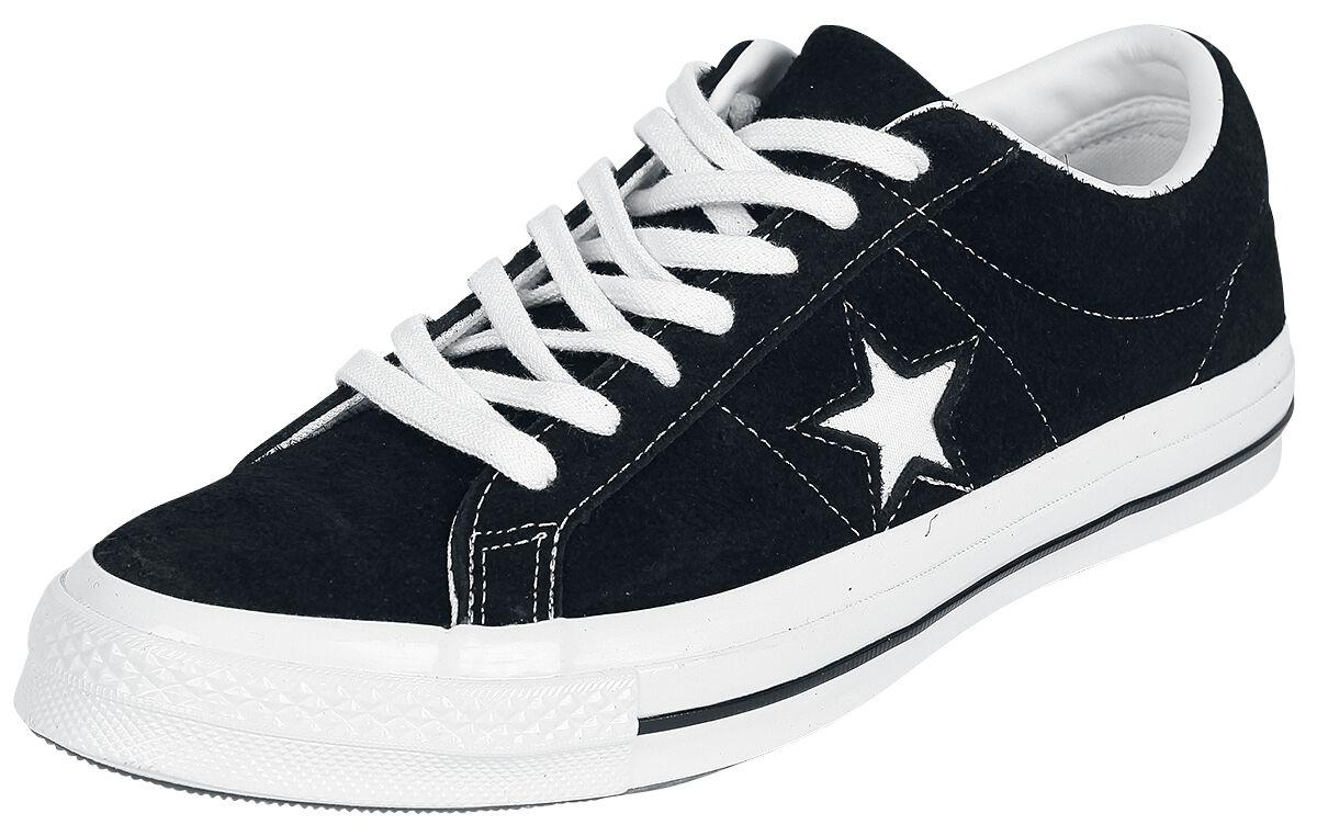 Image of   Converse One Star Premium Suede Sneakers sort-hvid