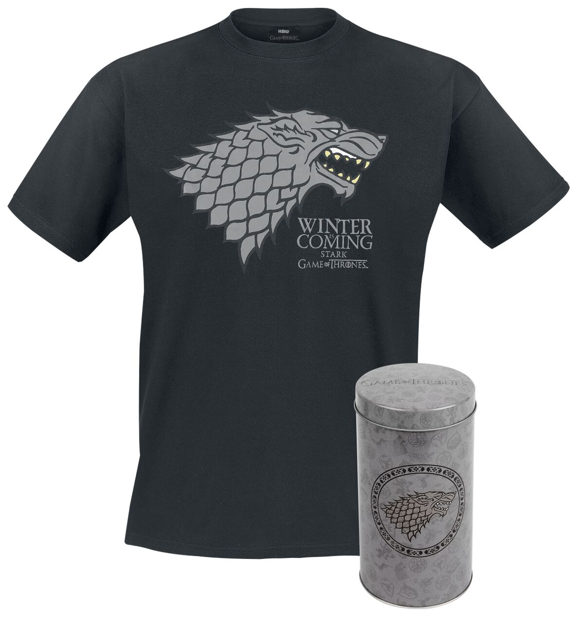 Image of   Game Of Thrones House Stark - Deluxe Edition T-Shirt multifarvet