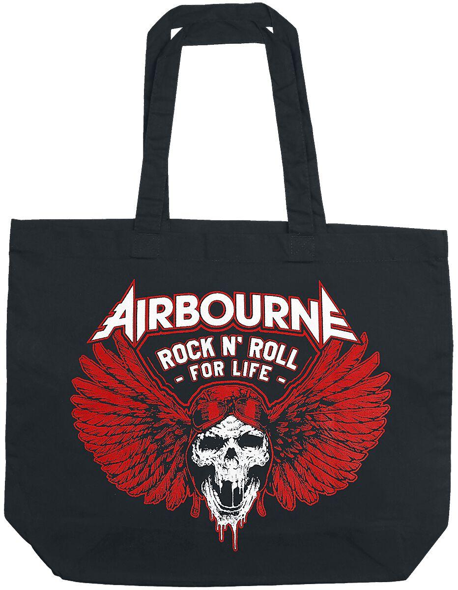 Zespoły - Torby i Plecaki - Torba płócienna Airbourne Rock 'N Roll For Life Torba płócienna czarny - 364653