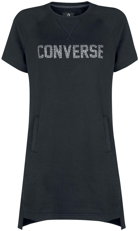 Image of   Converse Speckled Graphic Short Sleeve Sweatshirt Kjole sort