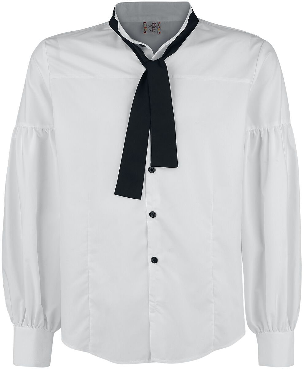 Image of   Banned Frilled Shirt - knapper Skjorte hvid