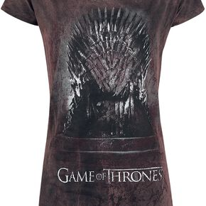 Game Of Thrones Le Trône De Fer T-shirt Femme bordeaux/noir