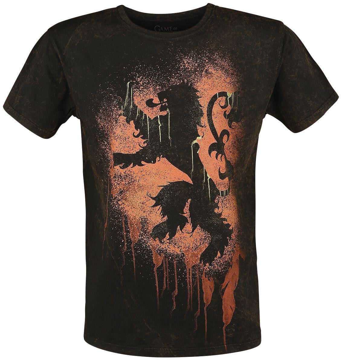 Image of   Game Of Thrones Lannister Graffiti T-Shirt brun-sort