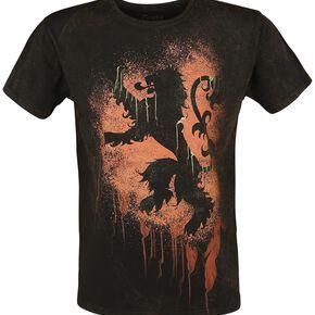 Game Of Thrones Lannister Graffiti T-shirt marron/noir