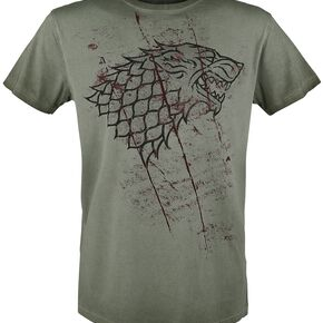 Game Of Thrones Stark Slashed Sigil T-shirt olive
