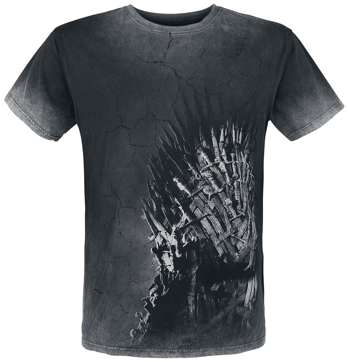 Image of   Game Of Thrones Iron Throne T-Shirt sort-grå