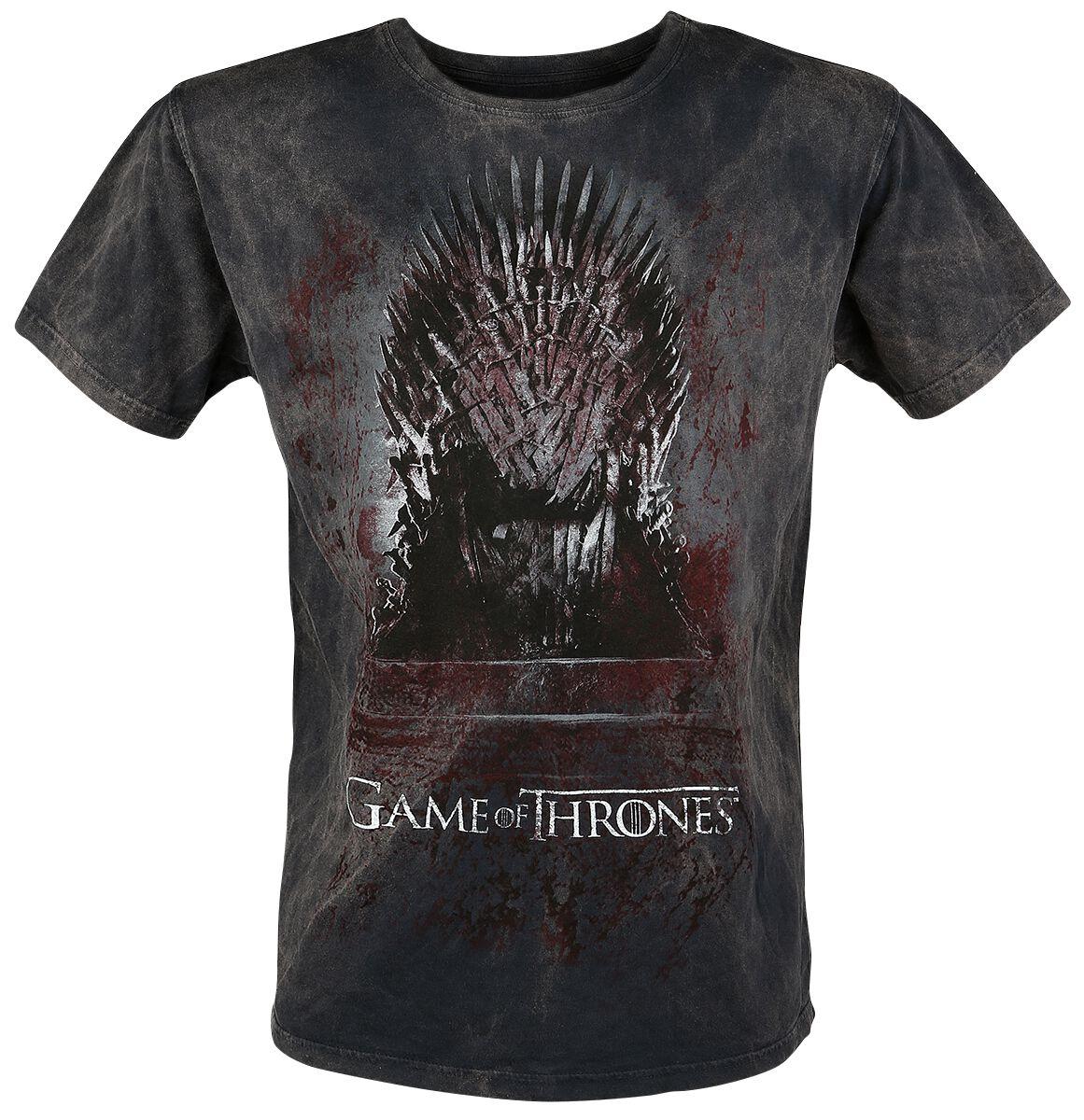 Image of   Game Of Thrones Iron Throne T-Shirt grå-rød