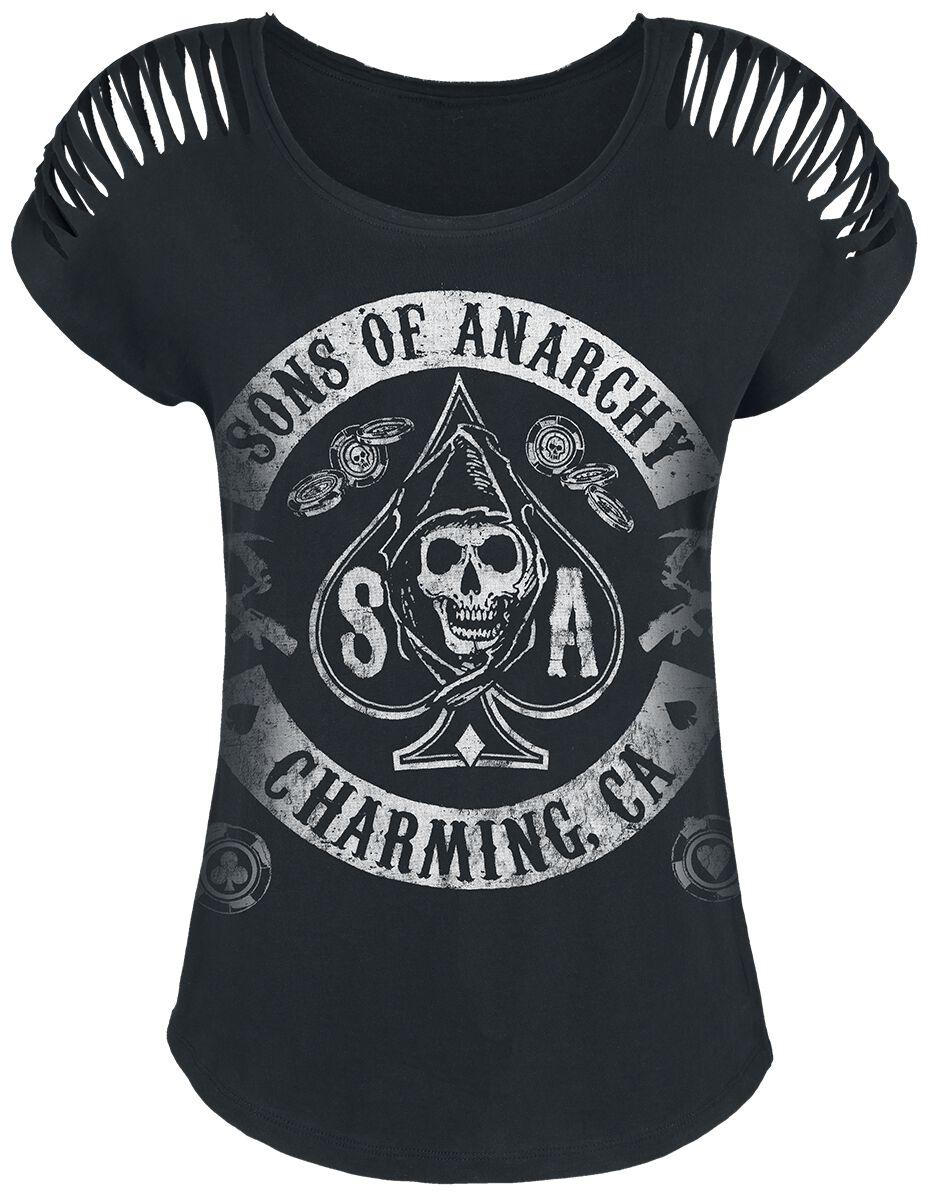 Merch dla Fanów - Koszulki - Koszulka damska Sons Of Anarchy Logo Koszulka damska czarny - 364811