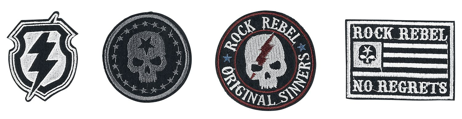Rock Rebel by EMP Decorate Your Robe Patch schwarz