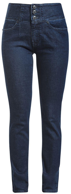 Image of   Rock Rebel by EMP Attractive Megan Girlie jeans blå