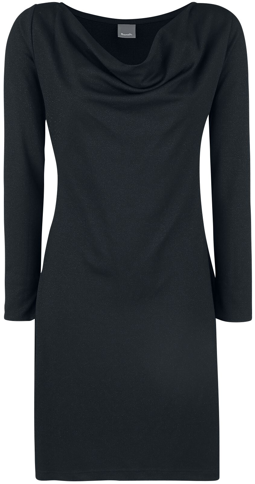 Bench Interlock Lurex Dress Kleid schwarz