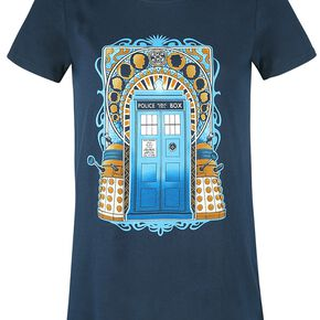 Doctor Who Tardis T-shirt Femme marine