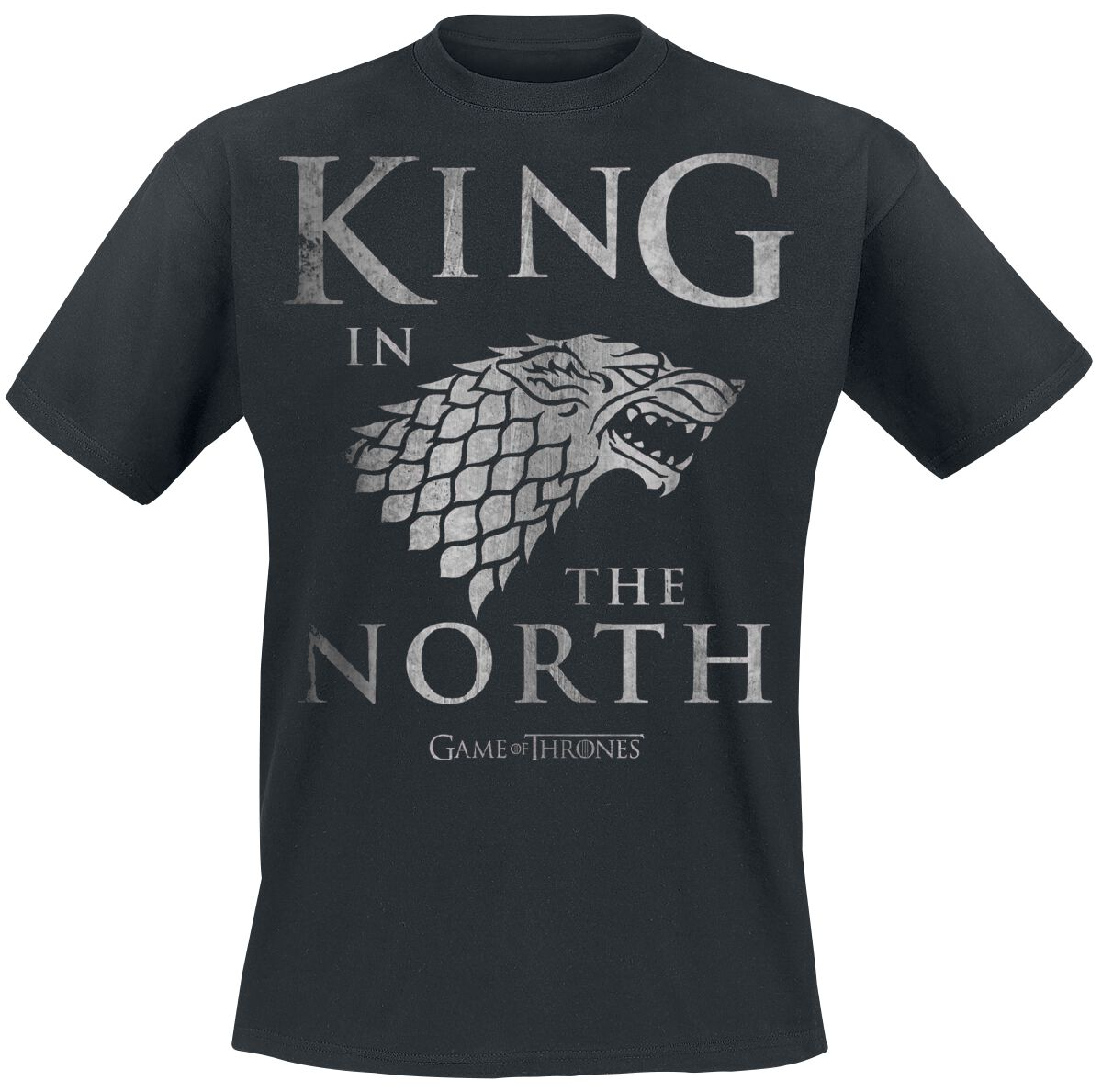 Image of   Game Of Thrones House Stark - King In The North T-Shirt sort