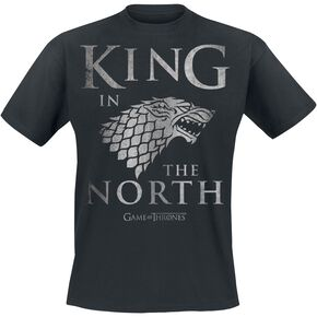 Game Of Thrones House Stark - King In The North T-shirt noir