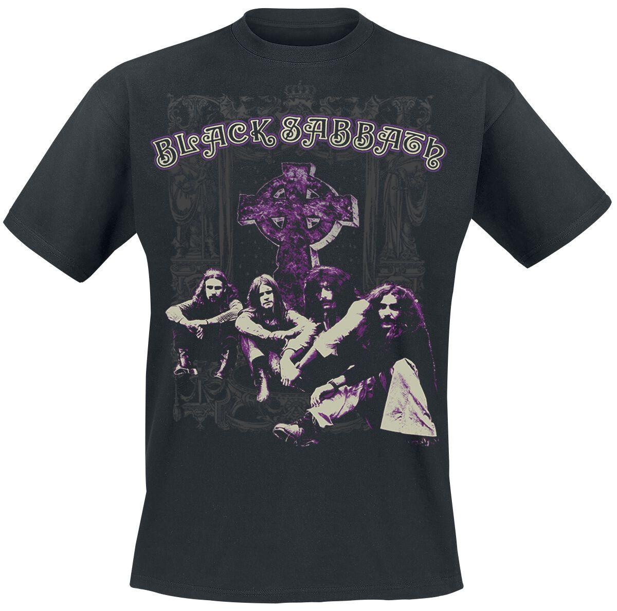 Image of   Black Sabbath Cross Group T-Shirt sort