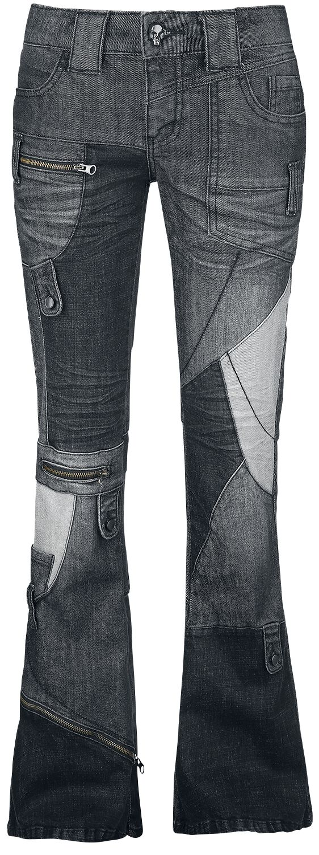 Image of   Rock Rebel by EMP Excited Leila Girlie jeans sort